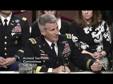Senator David Perdue in SASC with General Nicholson