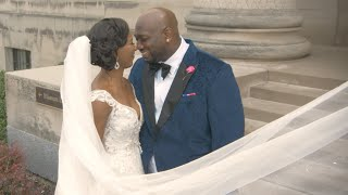 Bride Cries Reading Groom's Letter | Beautiful Wedding At Town Pavilion in Kansas City, MO