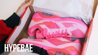 COMME des GARCONS x Nike Air Max 180 CDG Pink Unboxing