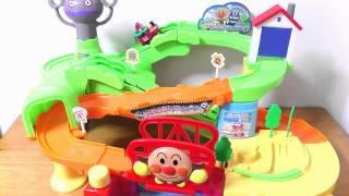 Anpanman Doki Doki Drive Course★アンパンマン GOGOミニカー ドキドキドライブコース SLマン&あかちゃんまん でやってみた! thumbnail