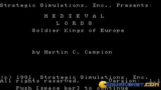 Medieval Lords gameplay (PC Game, 1991)