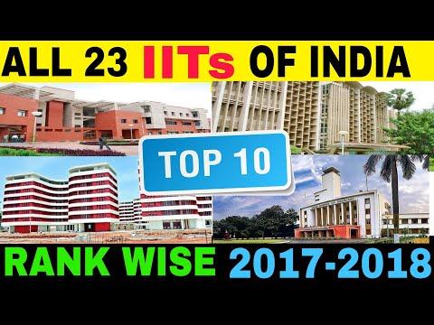 TOP 10 IITS RANKING 2018 | INDIAN INSTITUTES OF TECHNOLOGY | IIT MUMBAI | IIT KANPUR | IIT DELHI