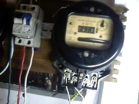 Остановка индукционного электросчетчика без магнита - YouTube
