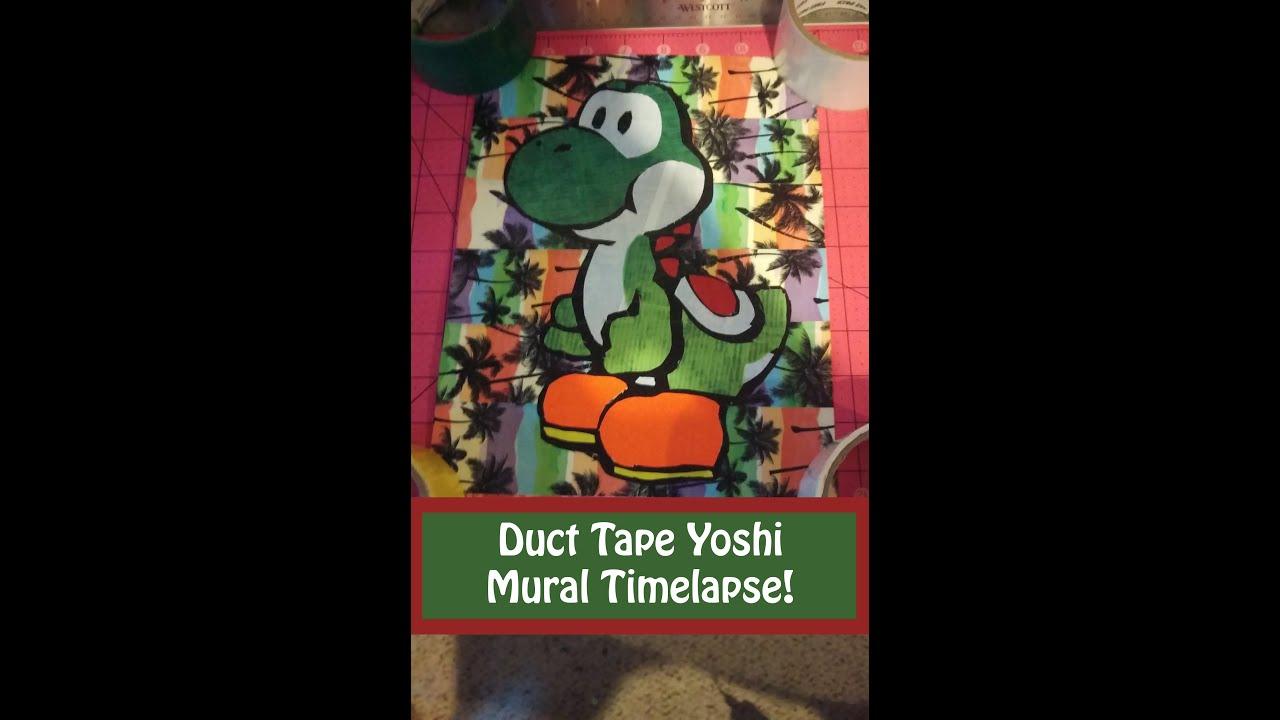 yoshi duct tape mural timelapse mini update youtube