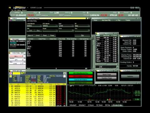 Trading platform with lots of orders entry