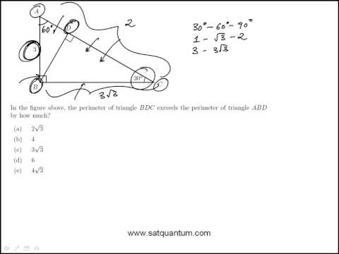 SAT PRACTICE QUESTION: 30-60-90 SIMILAR TRIANGLES AND