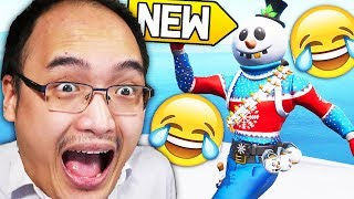 MÉGA DELIRES WITH THE NEW SKIN -BRISCARD OF NEIGE- ON FORTNITE!