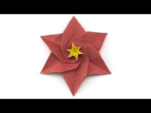 Flat Origami Rose - Lesson 2.5 | Useful Origami | 360x480