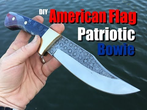 How To Easily Make A American Flag Themed Patriotic Bowie Knife Part One