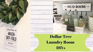 Dollar Tree Laundry Room Diy Decor // Farmhouse Decor // Laundry Organization On A Budget