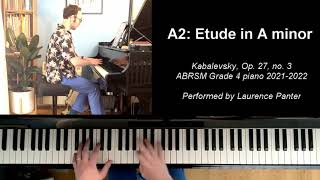 A:2 Etude in A minor (ABRSM Grade 4 piano 2021-2022)