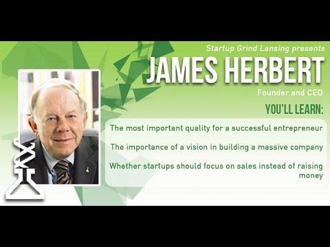 James Herbert (Neogen) at Startup Grind Lansing - Determination is Key to Success