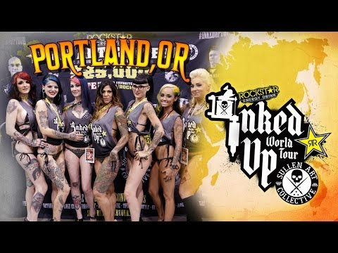 TATTOO CONVENTION COVERAGE - Rockstar Energy Miss Inked Up Portland