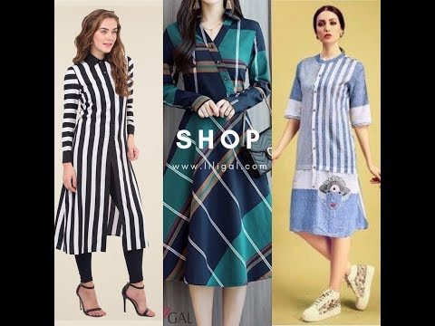 Stripped Kurti design collection for Summer 2019