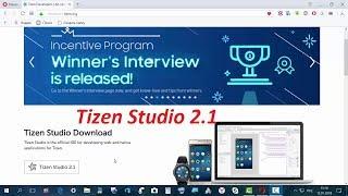 Tizen Studio 2.1 установка и запуск с нуля от А до Я .