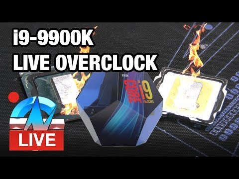 Live: Delidded i9-9900K Overclocking w/ Lapped IHS