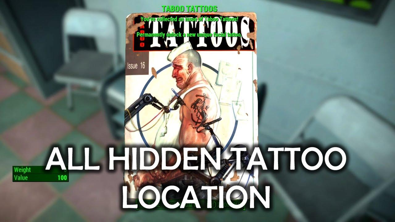 Fallout 4 - All Hidden Tattoo Magazine Location