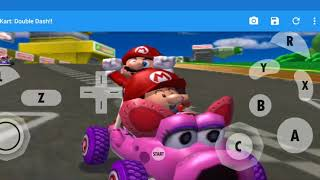 Dolphin Emulator Android Mario Kart Double Dash on Samsung Galaxy Note 9