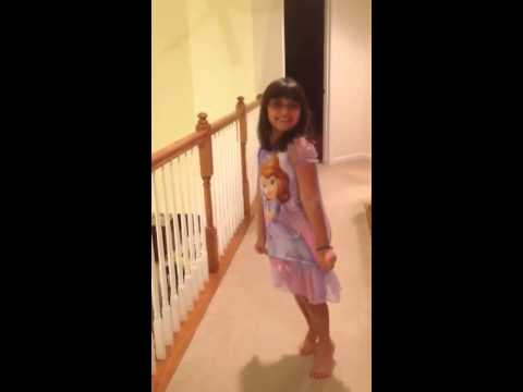 0a6eed5dc0 Sofia in her Sofia the First nightgown - YouTube