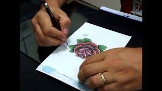 Curso de tatuagem - Como fazer e aplicar o Stencil (decalque)