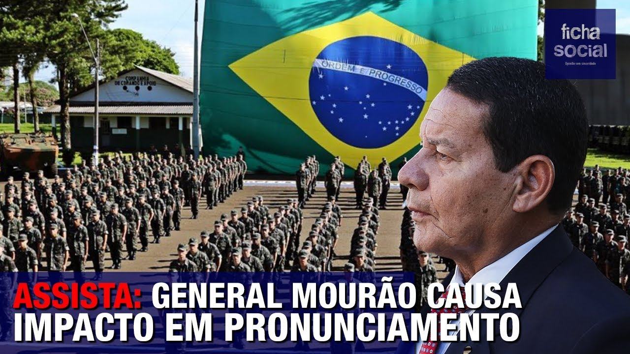 ASSISTA: GENERAL MOURÃO CAUSA IMPACTO EM PRONUNCIAMENTO - AMAZÔNIA, CHINA, CORRUPÇÃO, BOLSONARO