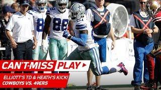 Ezekiel Elliott's 72-Yd TD & Safety Jeff Heath Kicks the Extra Point! | Can't-Miss Play | NFL Wk 7