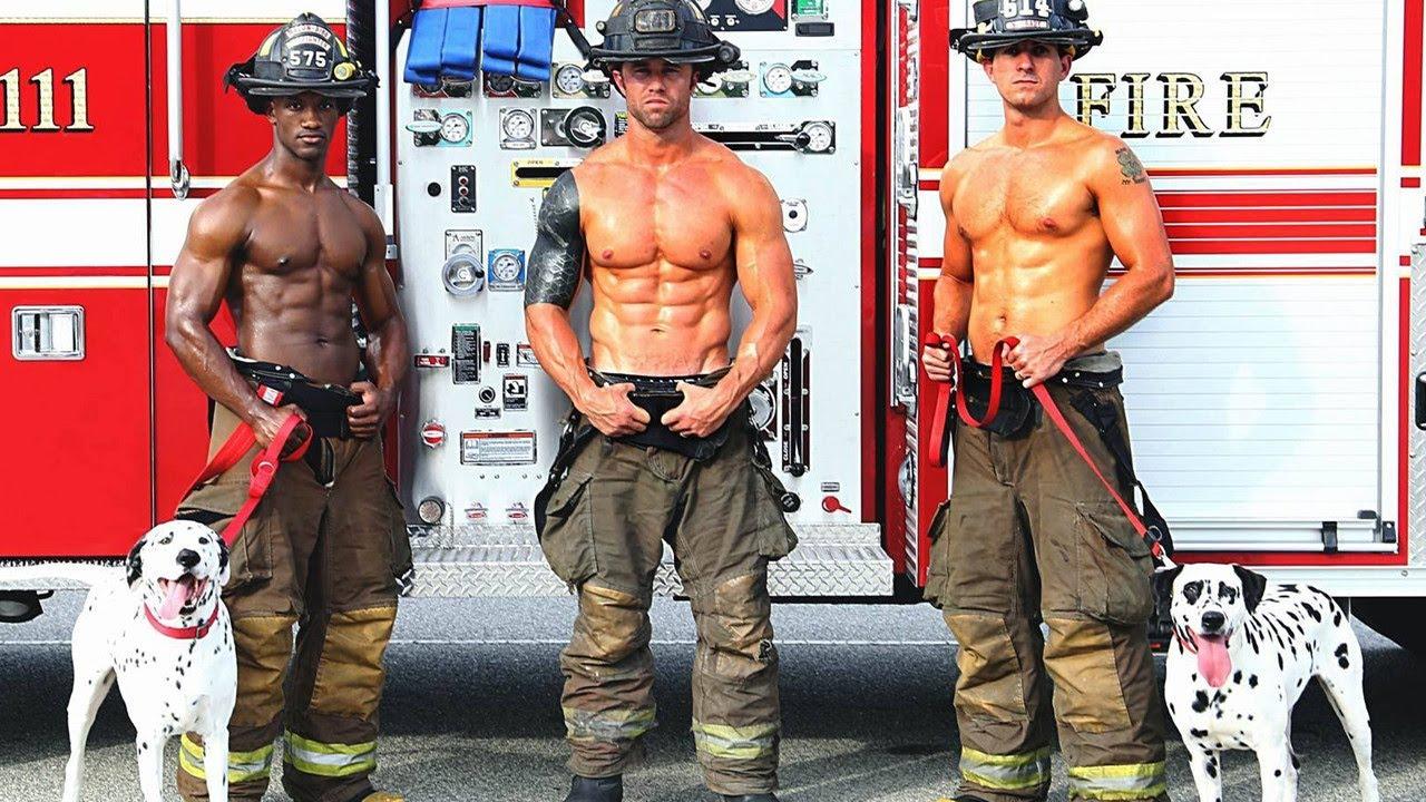Fireman Calendar May : Buff firefighters pose for steamy calendar to raise money