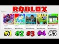 PLAYING THE TOP 5 ROBLOX GAMES