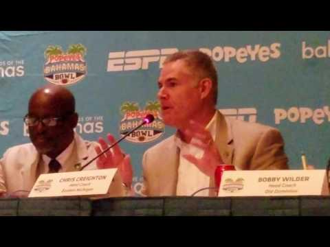 Coach Creighton Statement Popeyes Bahamas Bowl Press Conference
