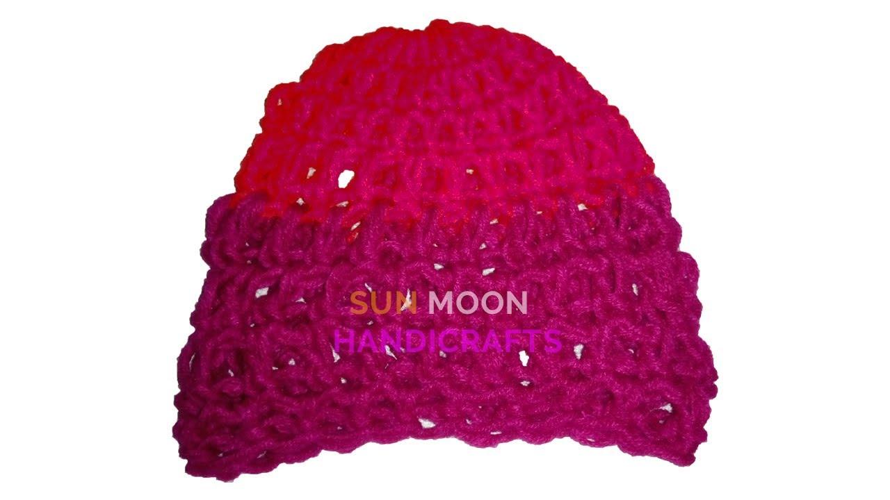 ccdb7c292ca5f ... canada how to make crochet baby hat easy tutorial for crochet baby  beanie crochet tupi by