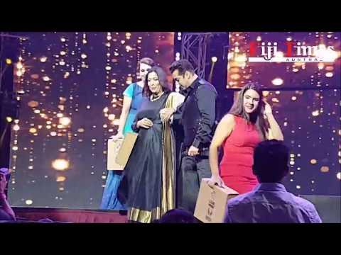 Salman Khan with Kemti Vyas, Anu Puri and Renu in Sydney