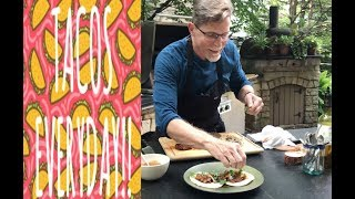 Taco Tuesday with Rick Bayless: Chipotle Skirt Steak Tacos with Smoky Tomatillo Salsa