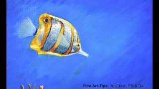 How to Paint a Butterfly Fish With Oil Paints - Narrated