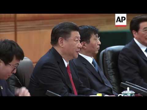 Vietnamese president meets President Xi