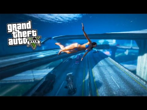 GTA 5 PC Mods - TSUNAMI MOD GAMEPLAY!!! BIG WAVES, NO WATER & TSUNAMI MOD! (GTA 5 Mods Gameplay)