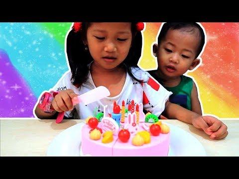 Mainan Potong Kue Ulang Tahun Bisa Nyanyi - DIY Birthday Cake Playset Toys | Mainan Anak