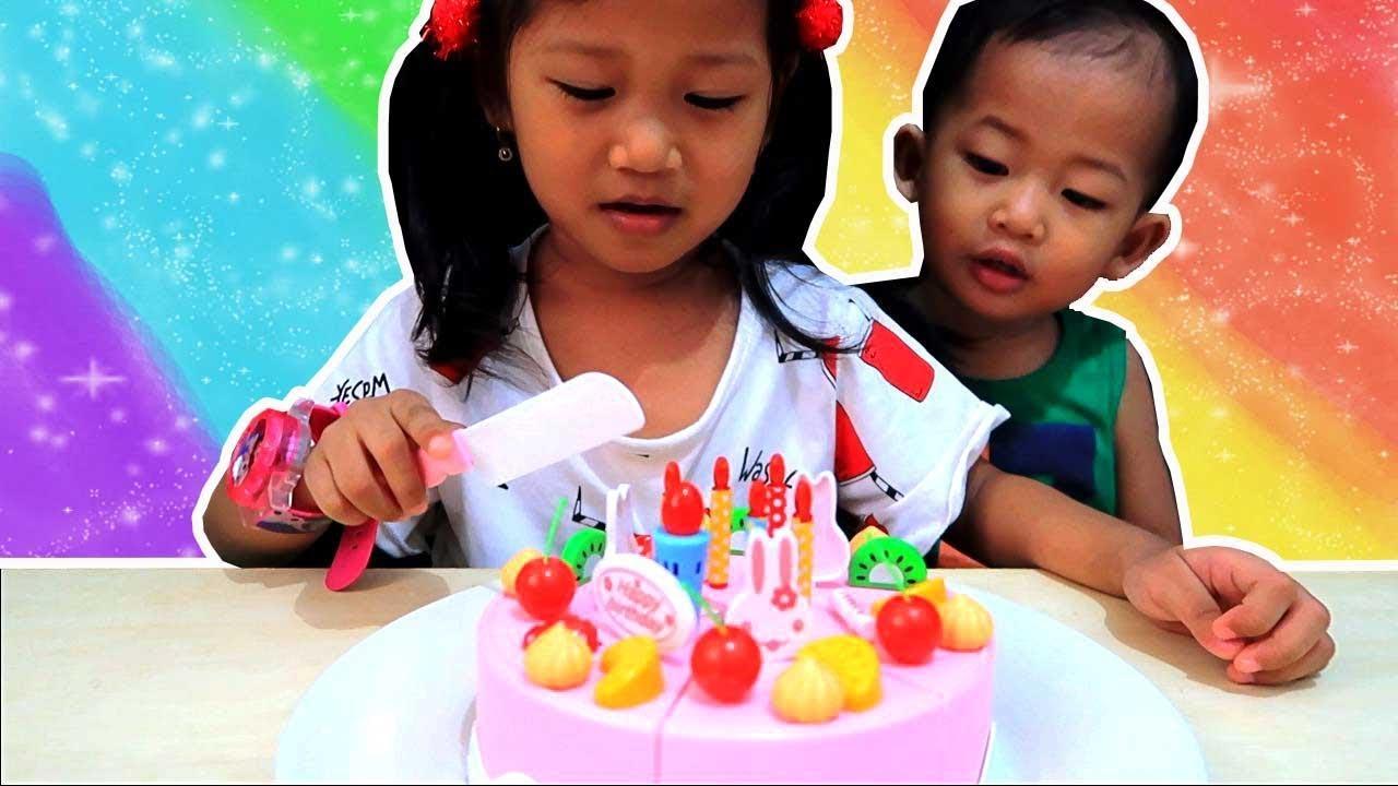 Mainan Potong Kue Ulang Tahun Bisa Nyanyi - DIY Birthday