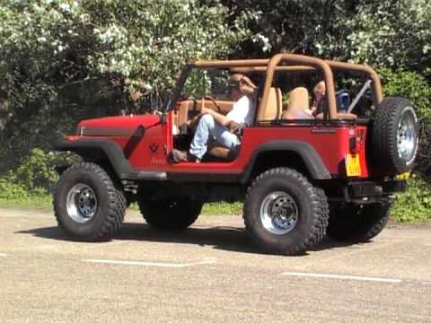 my jeep wrangler v8 chevy 350 5 7 ltr youtube. Black Bedroom Furniture Sets. Home Design Ideas