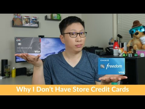 Why Dont Have Store Credit Cards