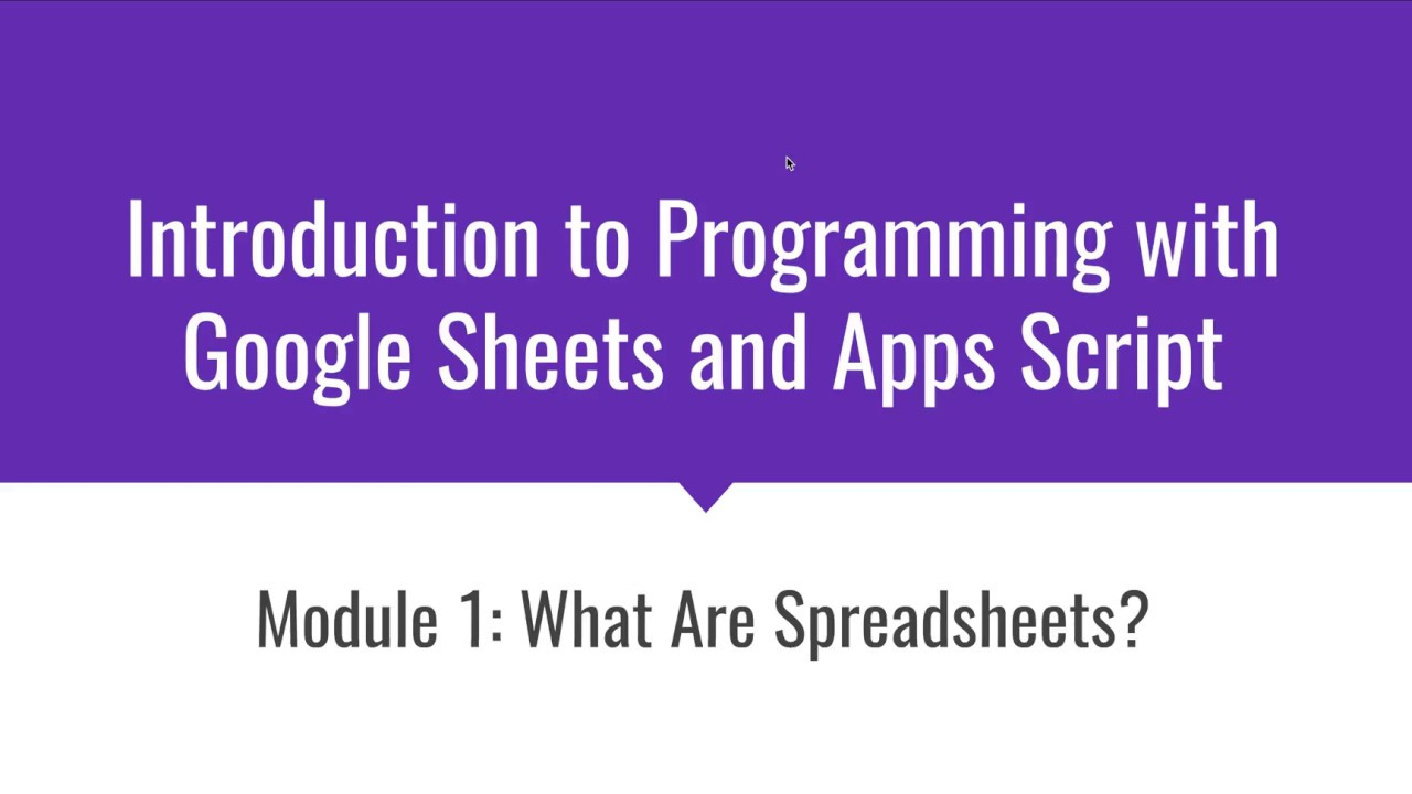 what is a spreadsheet introduction to programming with google