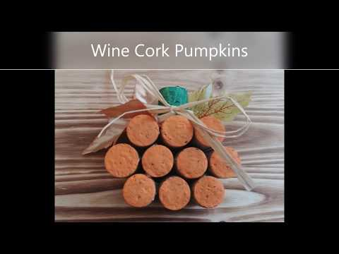 How To Make Wine Cork Pumpkins- Easy Fall Decorating Crafts