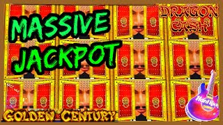 HIGH LIMIT Dragon Cash Link Golden Century MASSIVE HANDPAY JACKPOT 🐲$100 Bonus Round Slot Machine
