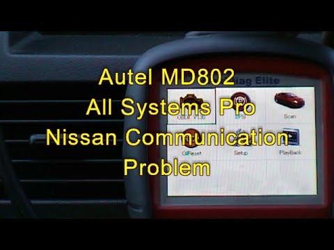Autel MD802 Nissan Communication problem