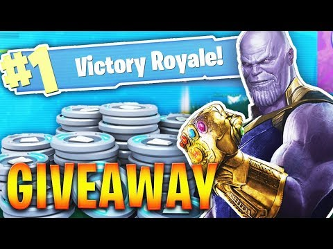 Insane Thanos Gameplay In Fortnite Battle Royale Thanos Infinity