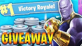 INSANE THANOS GAMEPLAY in FORTNITE BATTLE ROYALE THANOS INFINITY GAUNTLET MASHUP NEW UPDATE!!
