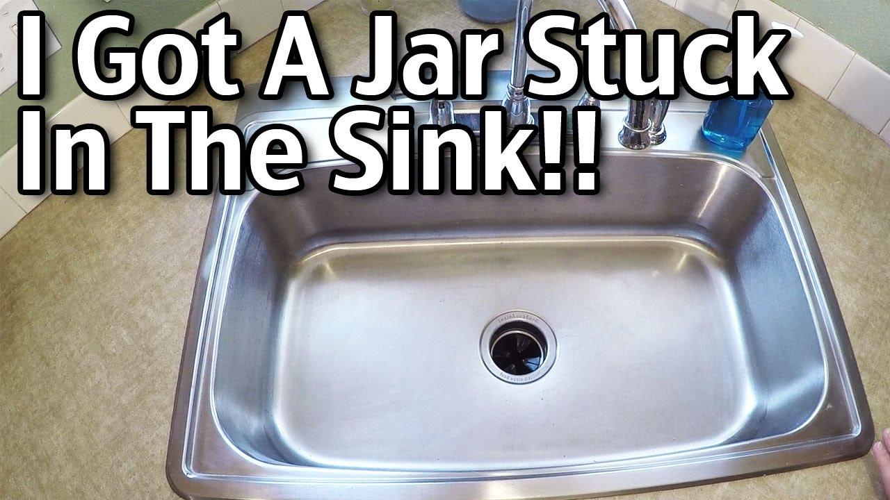 i got a jar stuck in the sink garbage disposal - Kitchen Sink Garbage Disposal