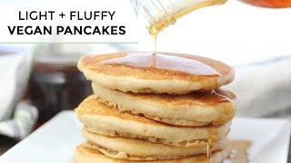 VEGAN PANCAKES | Light + Fluffy Vegan Pancake Recipe