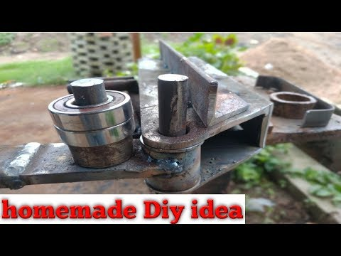 manual Steel bender | homemade metal bender Diy ||