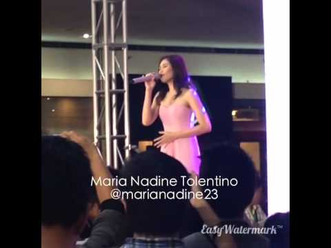 Sarah Geronimo singing 'Maybe This Time' | 4.11.15 | Watsons Women's Wellness Event