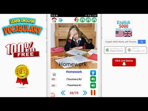 English 5000 Words with Pictures - School Supplies  Stationery Vocabulary